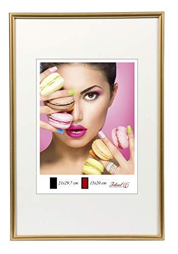 Photo Style Bilderrahmen in 20x30 cm bis 50x70 cm DIN Format Bilder Foto Rahmen: Farbe: Gold | Format: 30x45
