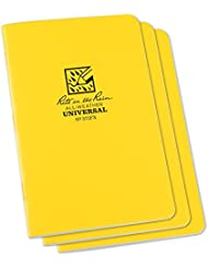 Rite in the Rain Unisex Staple Bound Mini impermeabile Notepad (Confezione da 3), Giallo, 4⅝ X 7