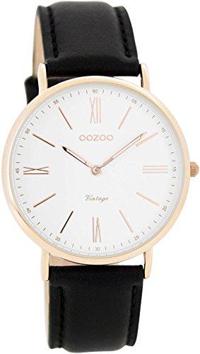 Oozoo Damen Digital Quarz Uhr mit Leder Armband C7717