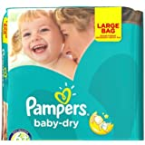 Pampers Baby Dry taille 6 LG Lot 114 couches Taille XL