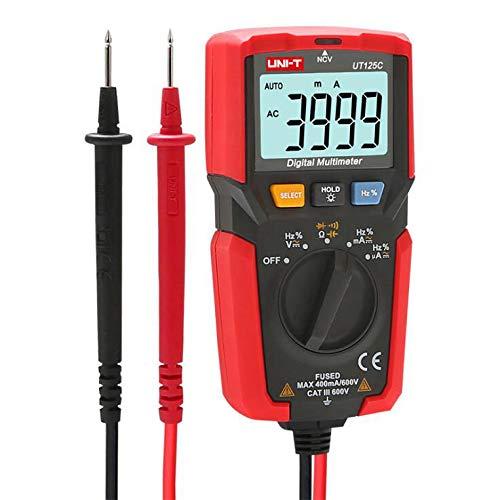 Multimeter Pocket Digital Electrician Pocket Automatisches Elektrisches Messgerät Catiii 600 V, 500 Ma / 600 V, Flinke Sicherung, Stromeingang Und Überlastungsschutz Kompakt, Black Digitale Sicherung
