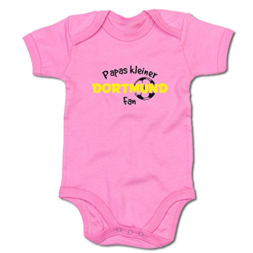 Papas kleiner Dortmund Fan Baby-Body (250.0235) (0-3 Monate, pink)