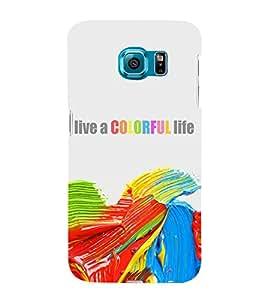 ifasho Designer Back Case Cover for Samsung Galaxy S6 Edge :: Samsung Galaxy S6 Edge G925 :: Samsung Galaxy S6 Edge G925I G9250 G925A G925F G925Fq G925K G925L G925S G925T (Emotional Parallel)
