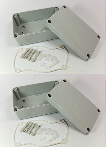 2x 170mm x 105mm x 85mm impermeabile involucro plastica case