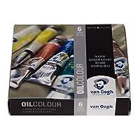 مجموعة طلاء الألوان الزيتية من فان جوخ 6×20 مل، مجموعة المبتدئين