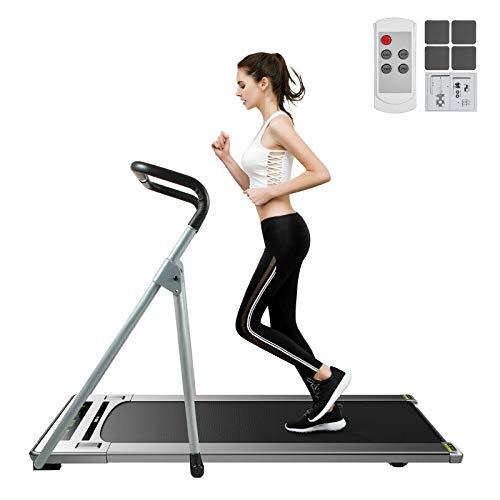 VEVOR Office Walker Laufband Fitness Laufband Smart Jogging Machine Fitness Gesundheit Keep Led Cardio Remote Control Übungstraining mit Armlehnen(Silber)