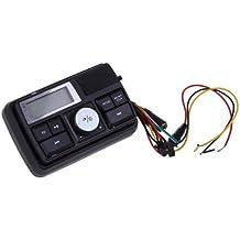SODIAL(R) Altavoces Amplificador Alarma SD Remoto MP3 FM para Moto Negro