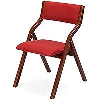 MLveen Legno Sedia pieghevole in legno massiccio Sedia pieghevole domestica Dinette pieghevole Sedia da pranzo moderno semplice sedia Meeting classico panno sedia ( colore : 2# )