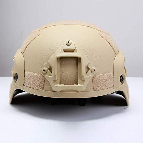 QIANG Airsoft-Schutzhelme Mich 2001 Action-Version Taktischer Helm Mit NVG-Halterung Und Seitenschienen Für Airsoft Paintball CS-Spiele Im Freien,Yellow