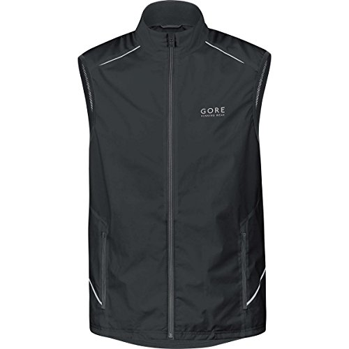 GORE RUNNING WEAR - Homme - Gilet de course - léger et coupe-vent - GORE WINDSTOPPER Active Shell - ESSENTIAL WS AS - Taille M - Noir - VWESSE990004