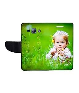 KolorEdge Printed Flip Cover For Samsung Galaxy J1 Multicolor - (1476-45KeMLogo09478SamJ1)