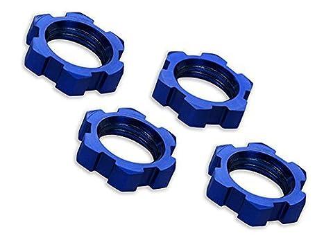 Traxxas 7758 X-Maxx Serrated, Blue-Anodized Wheel Nuts (set of