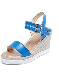 Sandali celesti con punta aperta per donna Voguezone009 5uJQAraeIG