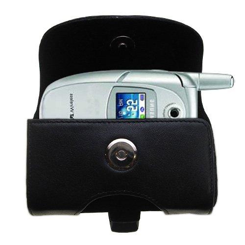 Custodia in pHorizontale schwarze Tragetasche für die Samsung SGH-E316 / E317 mit integrierter Gürtelschlaufe