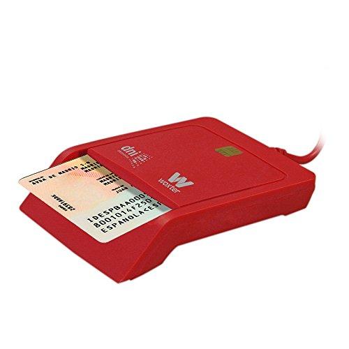 Woxter DNI Electrónico - Lector de tarjetas de memoria, color rojo