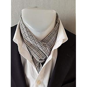 Exklusiver Herren Krawatten-Schal in Grau-Schwarz