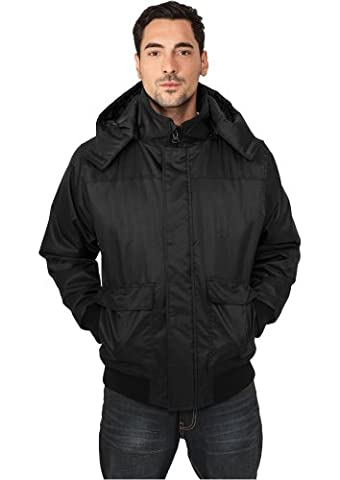 Urban Classics Herren Heavy Hooded Winter Jacke ,