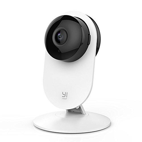 [Verbesserte Version]YI Home Kamera 1080p FHD Wireless IP Security Surveillance System , Nachtsicht IR, Lens Distortion Correction, Haus Monitor und Babymonitor Überwachnungskamera mit 2-Way Audio , WIFI und App für Handy/PC -Weiß Home Security Hd-kamera-system