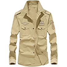 Camisas Casual Hombre Manga Larga, Covermason Camisa Casual otoñal para Hombres