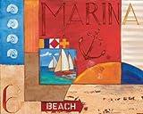 Feelingathome-STAMPA-SU-TELA-INTELAIATA-Portofino-Collage-II-cm77x96-canvas-con-telaio-pronto-da-appendere