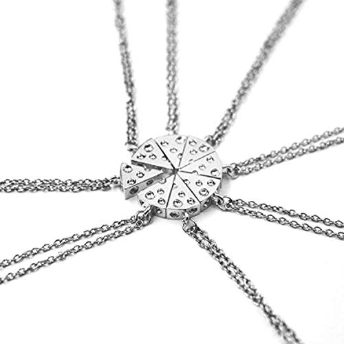 Pizza Käse Anhänger Halsketten Gold Silber Farbe Freundschaft Halskette Best Friends Forever Andenken Geburtstag Geschenk 1 Stück Einheitsgröße SV - String-käse
