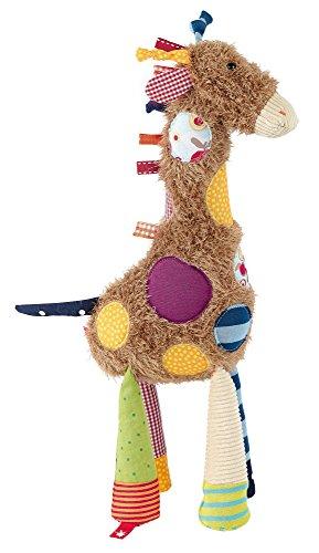 Zugprüfung (sigikid, Mädchen und Jungen, Stofftier Giraffe Sweety, Braun/Bunt, 38300)