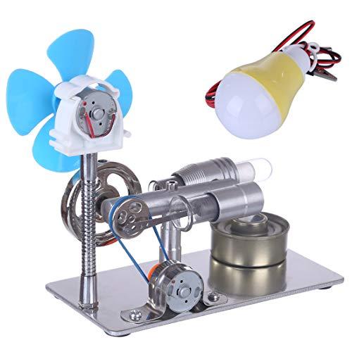 Dittzz Stirlingmotor Bausatz Stirling Engine mit Generator Pädagogisches Spielzeug für Kinder und Technikbegeisterte