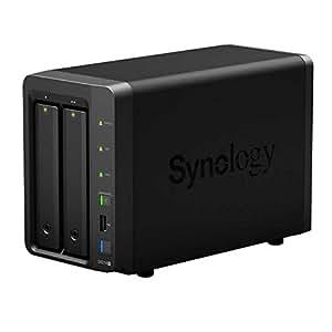 Synology DS213+ Boîtier serveur NAS à deux baies SD/e-Sata, USB 3.0 + deux disques durs WD Red 2 x 4000 GB