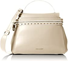 Twin Set As7pw2, Borsa a Tracolla Donna, Bianco Sporco (Almond), 14 x 24 x 32 cm (W x H x L)