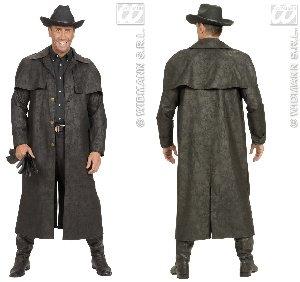 WIDMANN Desconocido Disfraz de Abrigo de Cowboy Negro - Talla XL