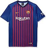 Nike FC Barcelona Home, T-Shirt Bambini, Deep Royal Blue/University Gold, M