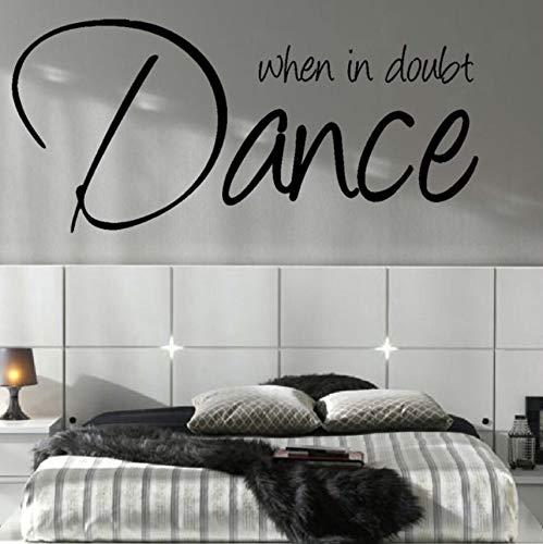 Hwhz 37 X 80 Cm Schlafzimmer-Zitat-Tanz-Musik-Wand-Kunst-Aufkleber-Grafik-Aufkleber Matt Vinyl Home Decoration