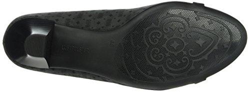Jenny Ara Auckland, Chaussures à talons - Avant du pieds couvert femme Gris - Grau (schwarz,grey 06)