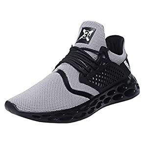 EUZeo Men's Fashion Breathable Lace-up Sport Athletic Walking Running Shoes Fitness Atmungsaktiv Sneakers Trainer für Running Fitness Gym Outdoor Straßenlaufschuhe