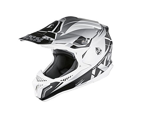 Motocrosshelm IXS HX 179 FLASH silber-schwarz-weiß Gr.XS