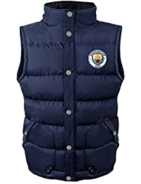 Manchester City FC Official Gift Boys Padded Body Warmer Jacket Gilet