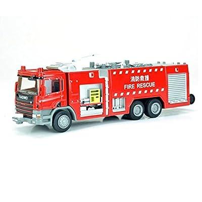 eMart Kinder-Legierung Druckguss -Modelle Spielzeug 01.50 Feuerlöschfahrzeug Miniatur-Auto-Metall Geschenk für Kinder von eMart Tech