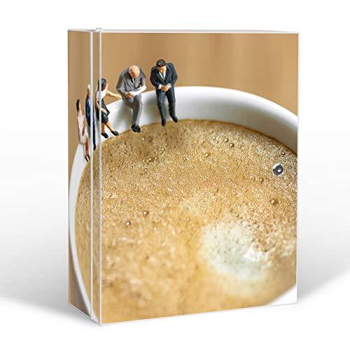 banjado Medizinschrank groß abschließbar | Arzneischrank 35x46x15cm | Medikamentenschrank aus Metall weiß mit Motiv Kaffeepause -