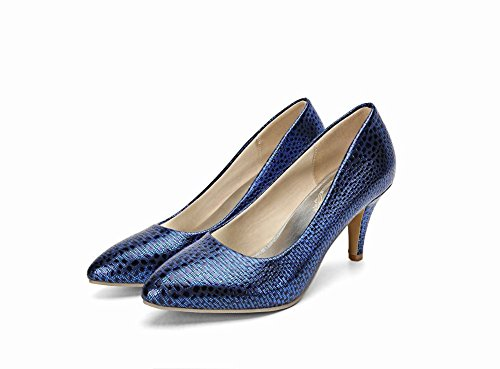 Mee Shoes Damen high heels Shallow Mund Pumps Blau
