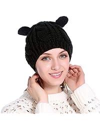 Invierno Sombrero Gorro De Punto Cálido para Dama Boina De Moda para  Exteriores Gorro De Lana 291b47b8a5e