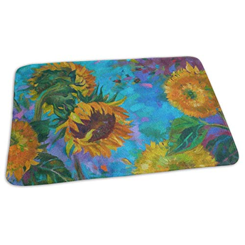 Kotdeqay Baby Changing Pad Liners Painted Sunflowers Daily Use Diaper Changing Pad Mats Portable Pad 25.5x31.5 Inches -