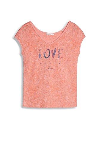 edc by ESPRIT Damen T-Shirt Mehrfarbig (Salmon 860)