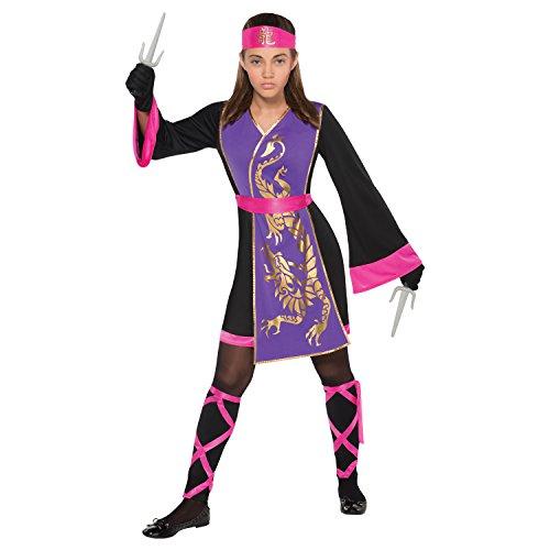 Ninja Gold Kostüm Kinder Mädchen - Amscan Kleid bis 842761-55Kostüm, Nicht-Farbe