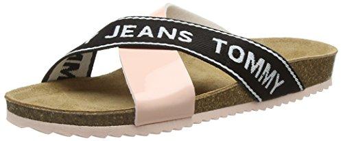 Hilfiger Denim Damen Tommy Jeans Flat Cork Sandal Plateausandalen, Pink (Rose Cloud 646), 39 EU -
