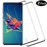 DOSMUNG [2 Pack Vetro Temperato per Samsung Galaxy S10 Plus, Pellicola Vetro per Galaxy S10 Plus [9H Durezza] [Curva 3D] [Copertura Completa] [Alta Definizione] Galaxy S10 Plus Pellicola Protettiva