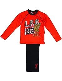 Niños Oficial LIVERPOOL LFC 92 Algodón Estampado Pijama Rojo tallas desde 4 a 12 Años