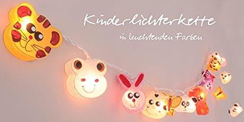 Lichterkette 'Cottino Edition' mit handbemalten Tieren (Moderne 3 Tier Beleuchtung)