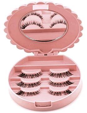MRULIC Acryl Nette Bogen Falsche Wimper Aufbewahrungsbox Make-up Kosmetik Spiegel Fall Organizer Acryl Nette Bogen...