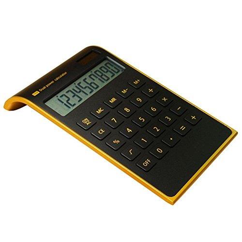 TKSTAR Taschenrechner Büro- und Haus Elektronische 10Zahlen, Taschenrechner Ultradünn Elegantes Design, solarbetrieben, Rechner Desktop-Konzeption neigbar