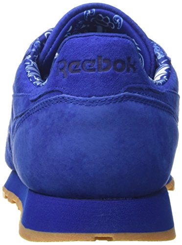 Reebok Cl Leather Tdc, Scarpe da Corsa Uomo Blu (Collegiate Royal/Whit)